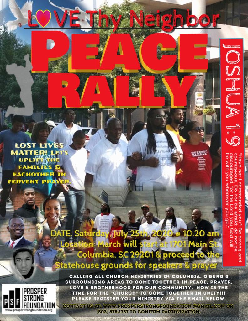 3rd Annual Love Thy Neighbor Peace Rally 2020